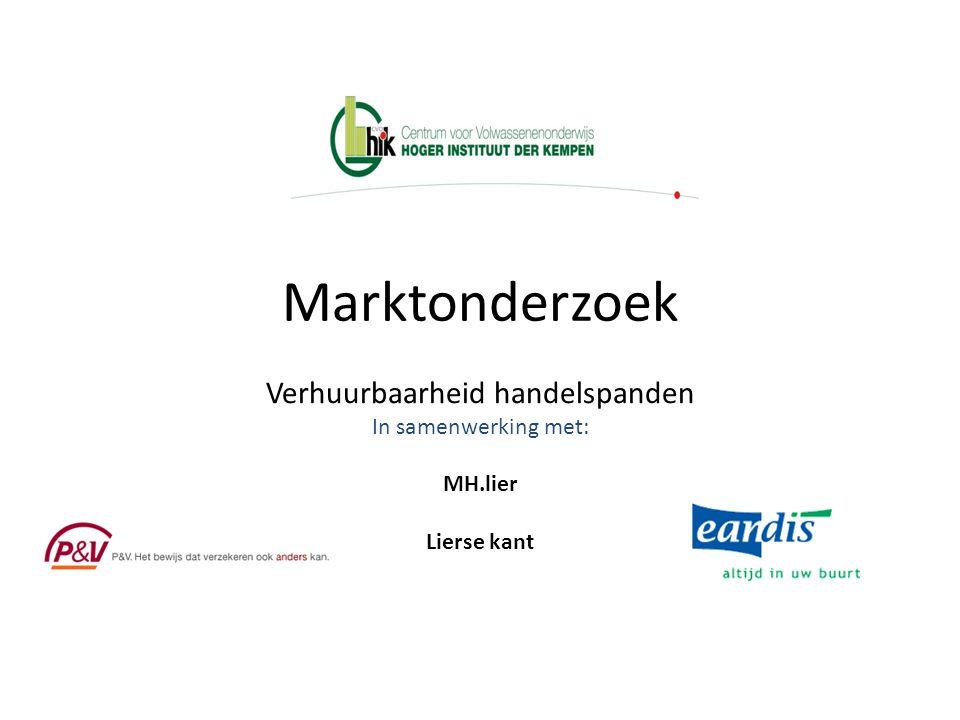 Marktonderzoek Verhuurbaarheid handelspanden In samenwerking met: MH.lier Lierse kant