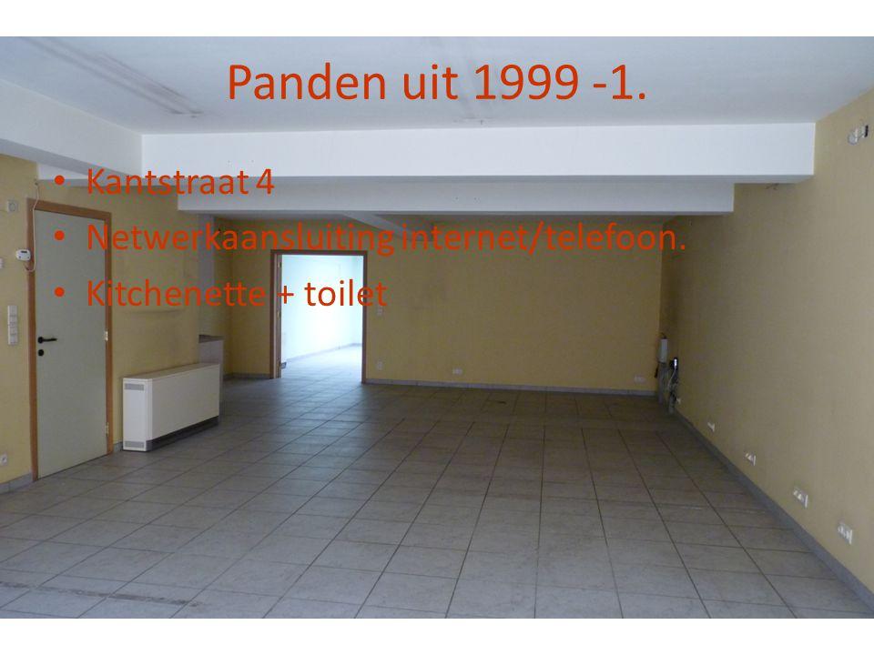 Panden uit 1999 -1. • Kantstraat 4 • Netwerkaansluiting internet/telefoon. • Kitchenette + toilet