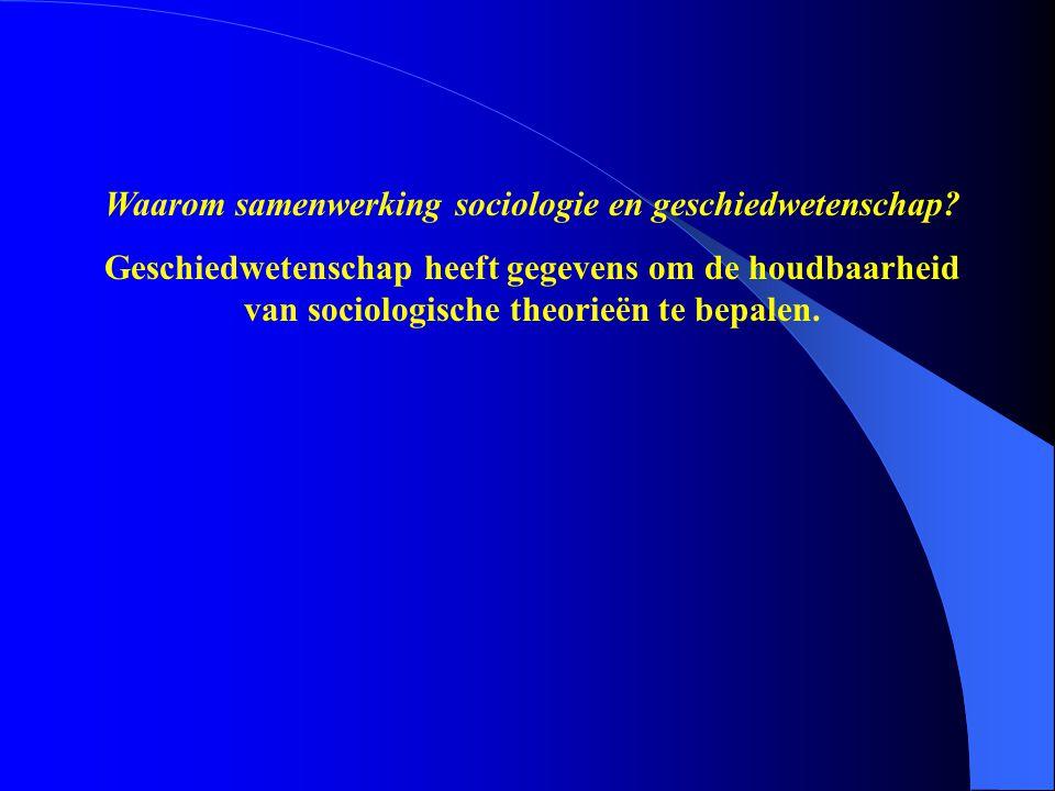Geschiedwetenschap heeft gegevens om de houdbaarheid van sociologische theorieën te bepalen.