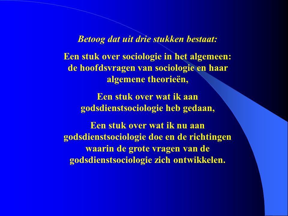 Deze presentatie kan nog eens bekeken worden op socsci.ru.nl/maw.sociologie/ultee/ Of type in google: wout ultee De eerste hit is mijn website.
