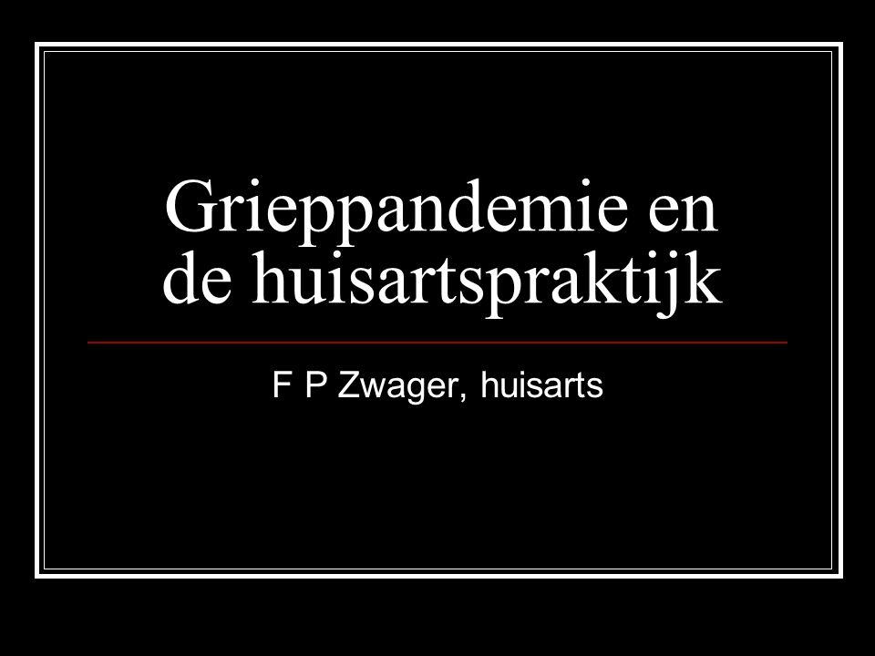 Grieppandemie en de huisartspraktijk F P Zwager, huisarts
