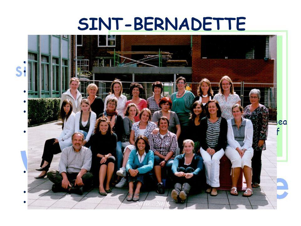 """SINT-BERNADETTE """" Onze schoolstructuur"""" • Directie ( Christel De Caluwé ) • Zorgcoördinator- Beleidsondersteuner- Gok-coördinator (juf Hilde De Bie) •"""