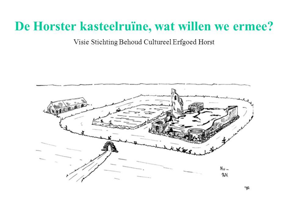 De Horster kasteelruïne, wat willen we ermee Visie Stichting Behoud Cultureel Erfgoed Horst