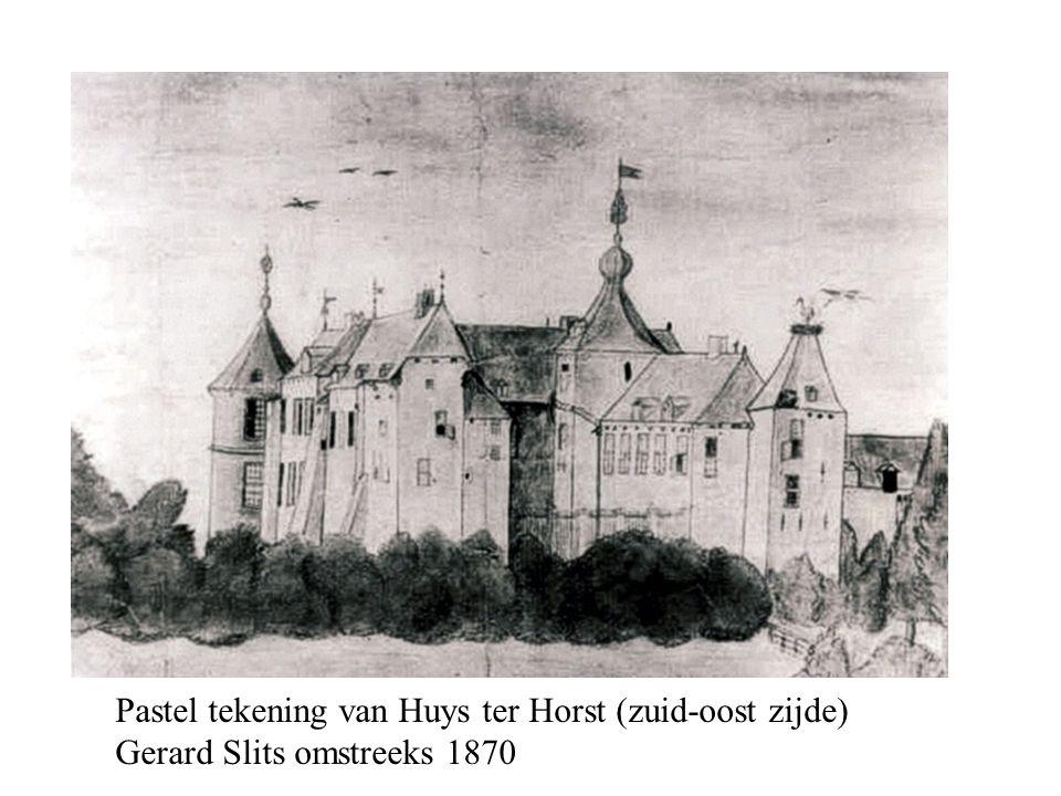 Pastel tekening van Huys ter Horst (zuid-oost zijde) Gerard Slits omstreeks 1870