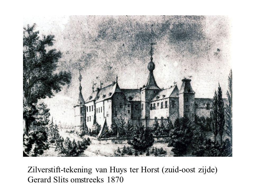 Zilverstift-tekening van Huys ter Horst (zuid-oost zijde) Gerard Slits omstreeks 1870