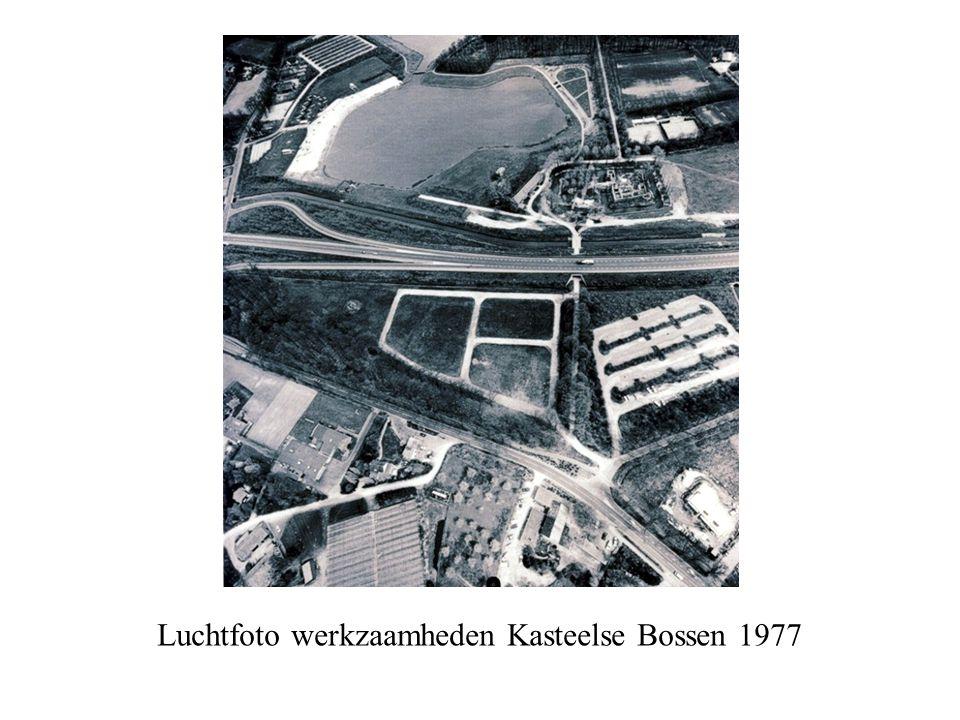 Luchtfoto werkzaamheden Kasteelse Bossen 1977
