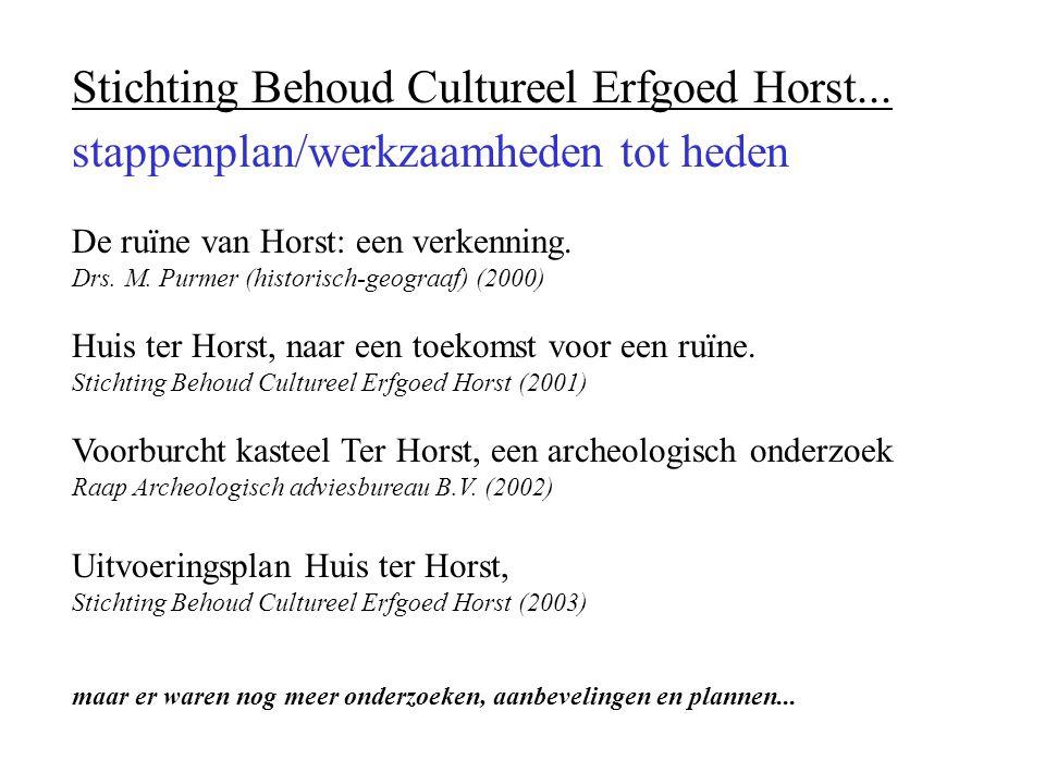 Stichting Behoud Cultureel Erfgoed Horst...
