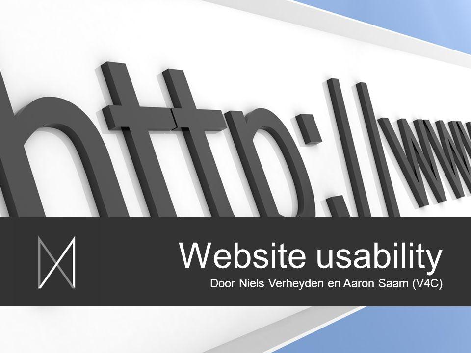 Website usability Door Niels Verheyden en Aaron Saam (V4C)
