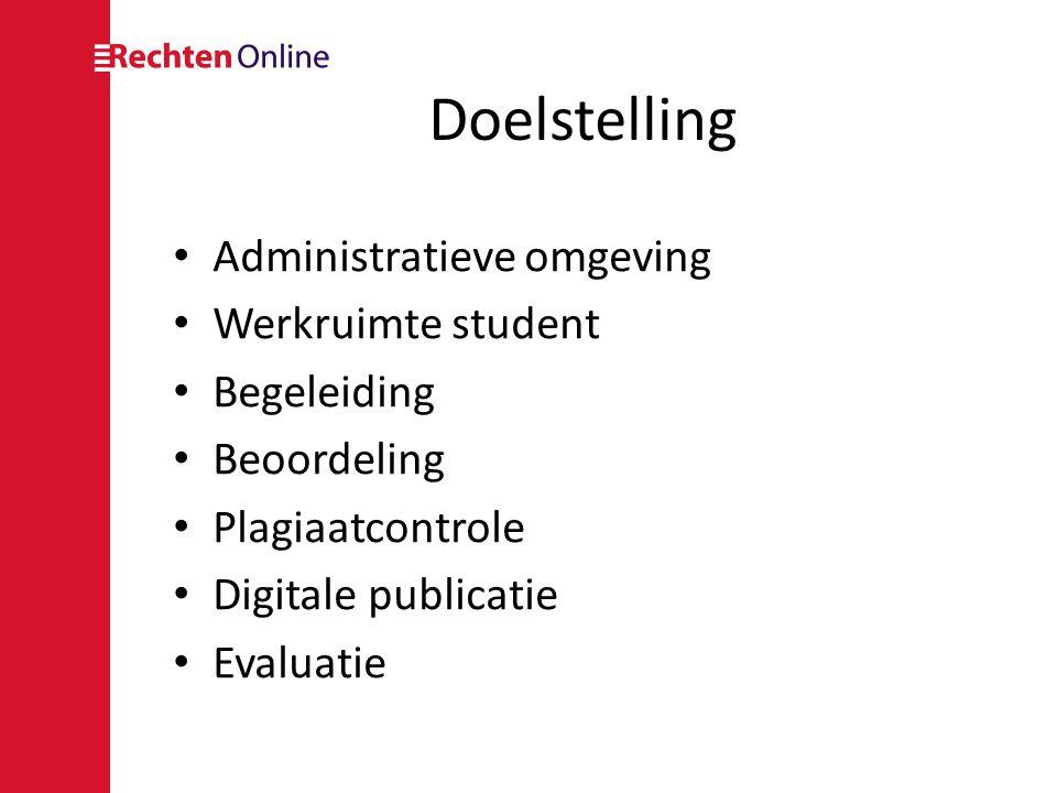 Rollen • Student • Begeleider & 2 e beoordelaar • Coördinator • Secretariaat • Bibliothecaris • Auditor • Administrator