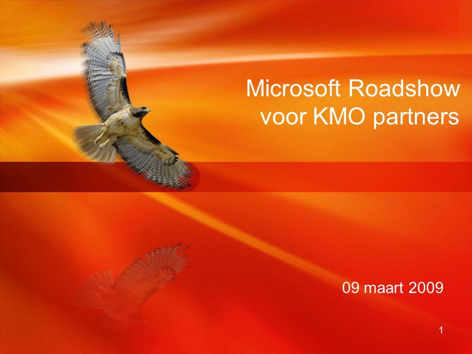 1 Microsoft Roadshow voor KMO partners 09 maart 2009