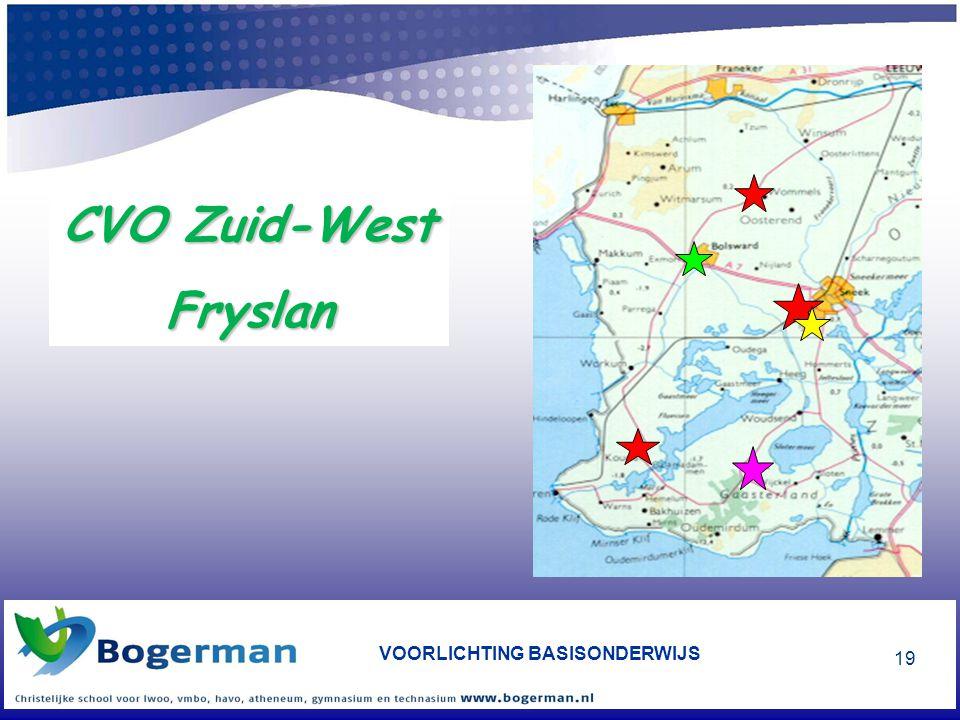 VOORLICHTING BASISONDERWIJS 19 CVO Zuid-West Fryslan