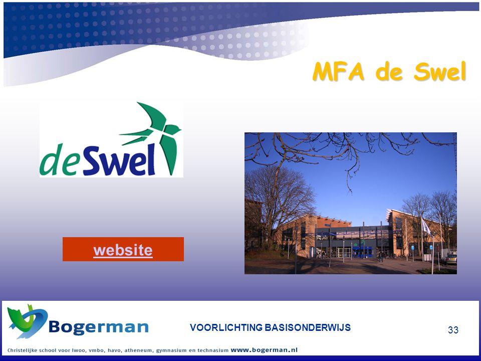 VOORLICHTING BASISONDERWIJS 33 MFA de Swel website