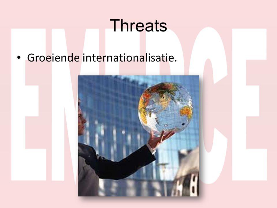 • Groeiende internationalisatie.