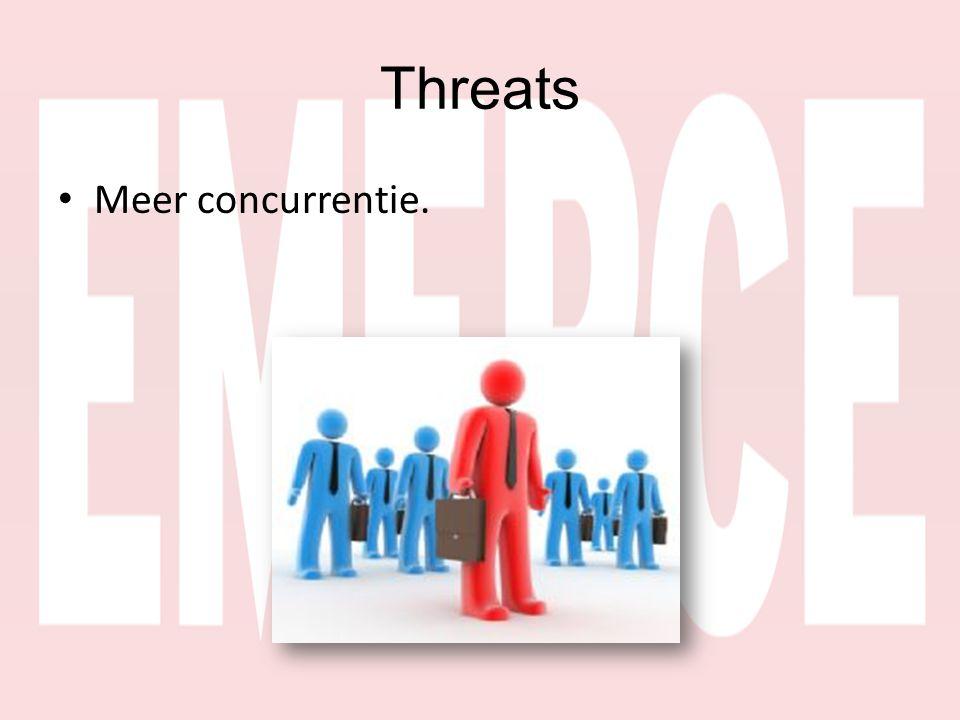 Threats • Meer concurrentie.