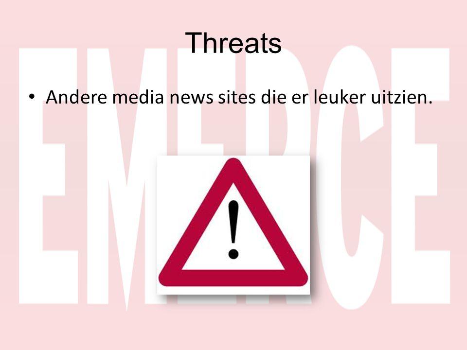 Threats • Andere media news sites die er leuker uitzien.