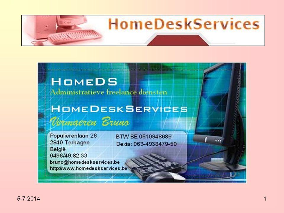 2 •Wie is HomeDS.•Welke taken doen wij voor bedrijven.