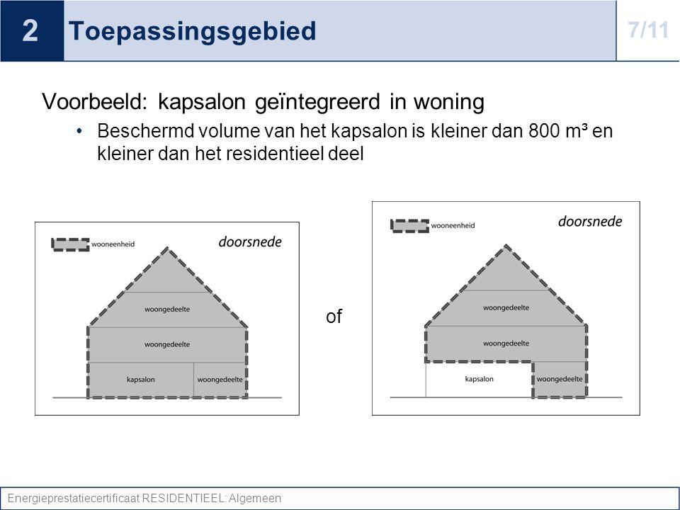Energieprestatiecertificaat RESIDENTIEEL: Algemeen Toepassingsgebied Voorbeeld: appartementsgebouw + appartement met dokterspraktijk •EPC per appartement •Gemeenschappelijke delen (o.a.