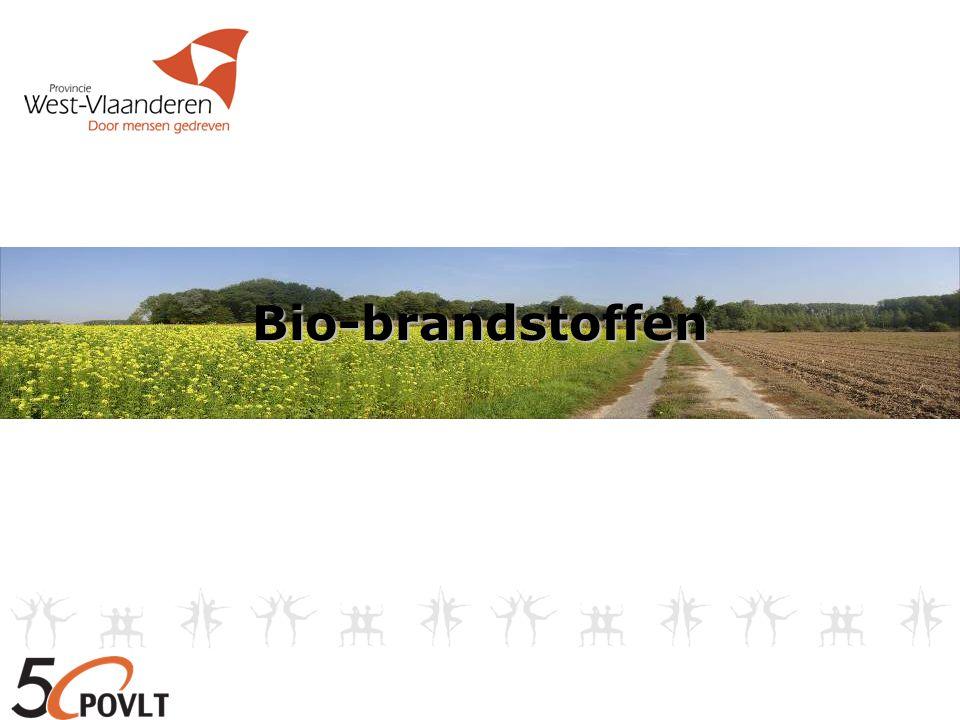 De rol van de landbouwer 3) Bio-brandstof gebruiken in WKK WKK = warmte + elektriciteit Door gebruik bio-brandstof (koolzaadolie) => WKK-certificaten + GSC-certificaten + verkoop/gebruik elektriciteit en gebruik warmte Voordelen tav WKK op biogas - minder investeringen - flexibeler