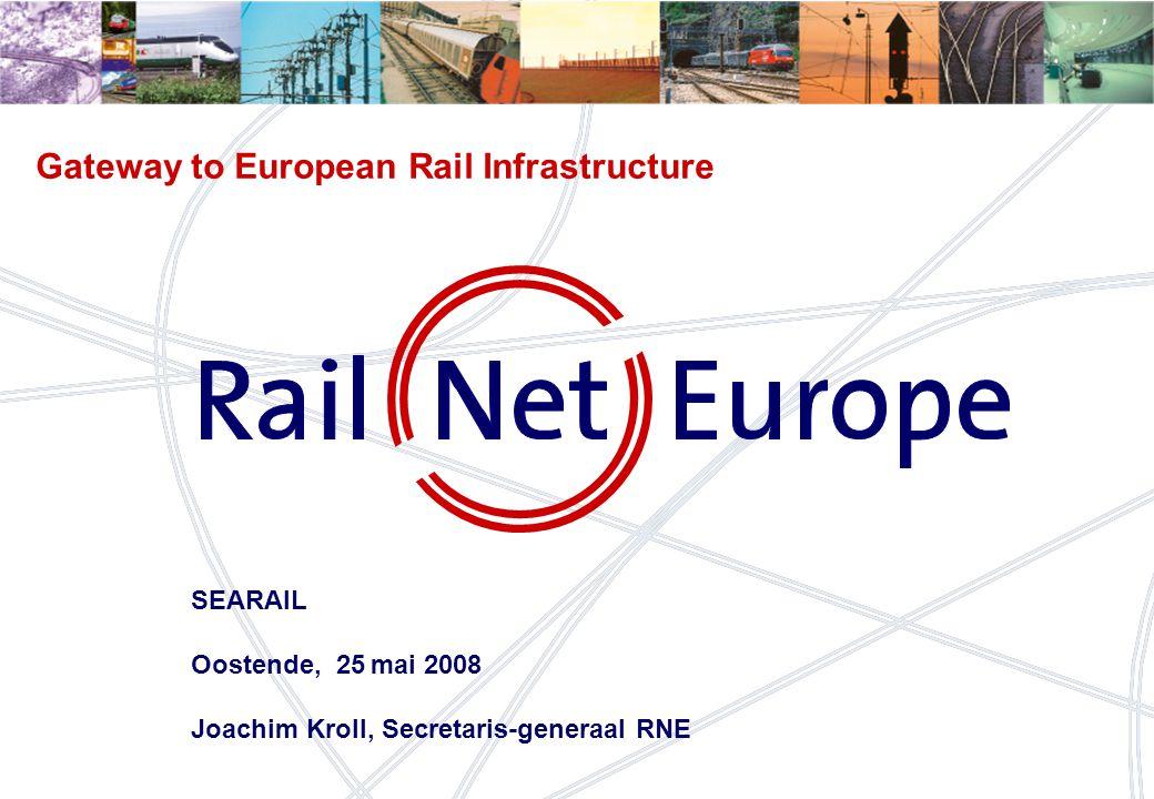 2mei 08 Vereniging 34 infrastructuurbeheerders en deelorganisaties hebben zich bij RNE aangesloten om in het domein van het Europese treinverkeer in één maatschappij samen te werken.