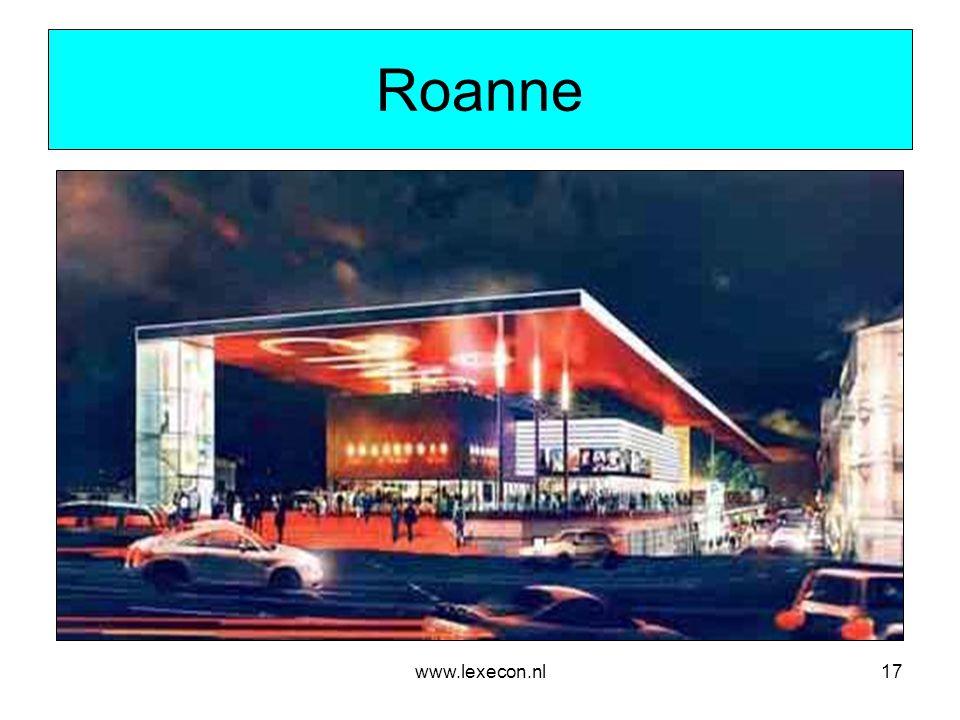 www.lexecon.nl17 Roanne