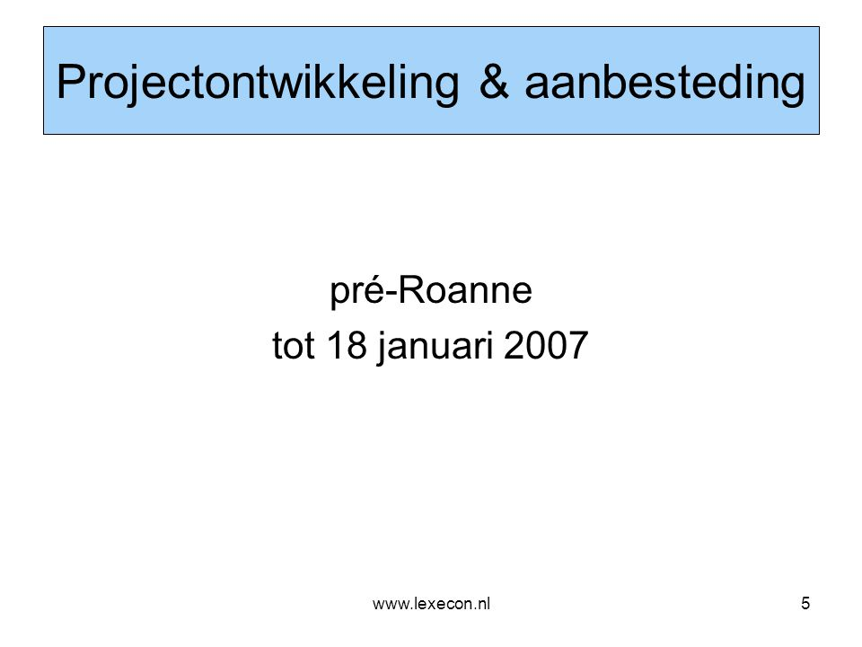 www.lexecon.nl36 Samenvatting •Specifieke Franse setting'; a-typisch •Multifunctioneel centrum (?) •Koop/verkrijging eigendom onverkochte onderdelen door Gemeente - Gemeente draagt volledige projectrisico > een gemeentelijk project •'Bezwarende titel' en van derden verkregen inkomsten ook in deze context te bezien •Verschil conclusie AG Kokott en uitspraak HvJ EG t.a.v.