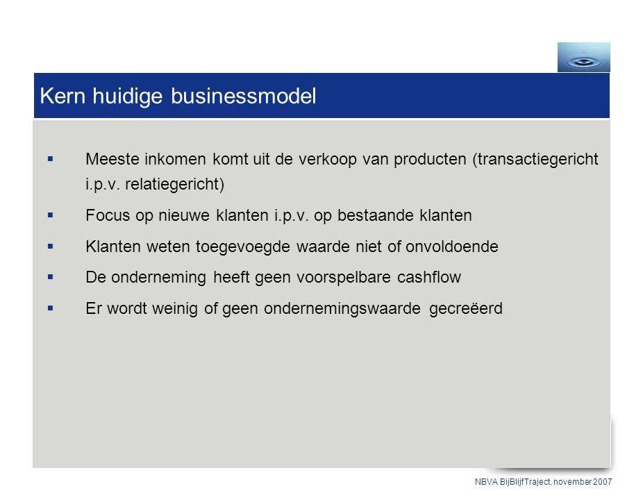  Meeste inkomen komt uit de verkoop van producten (transactiegericht i.p.v.