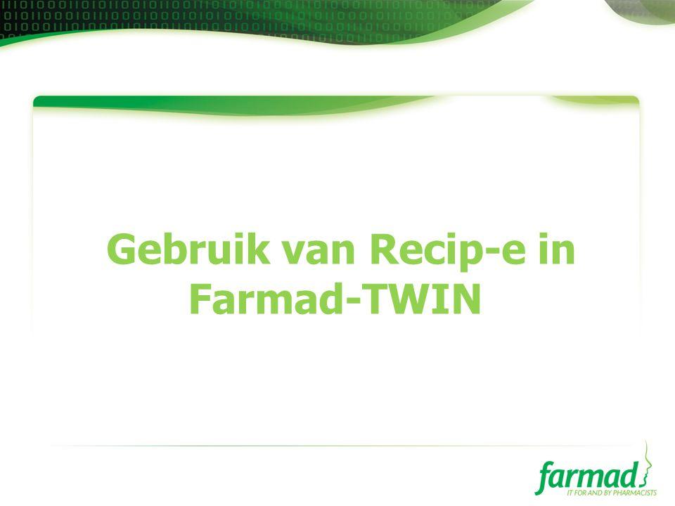 Gebruik van Recip-e in Farmad-TWIN