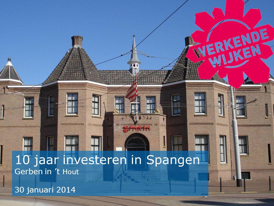 10 jaar investeren in Spangen Gerben in 't Hout 30 januari 2014