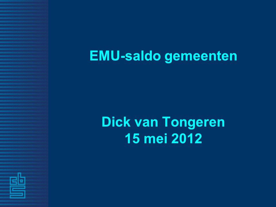 EMU-saldo gemeenten Dick van Tongeren 15 mei 2012