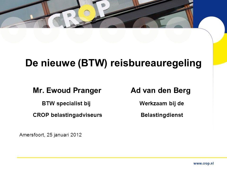 De nieuwe (BTW) reisbureauregeling Mr.
