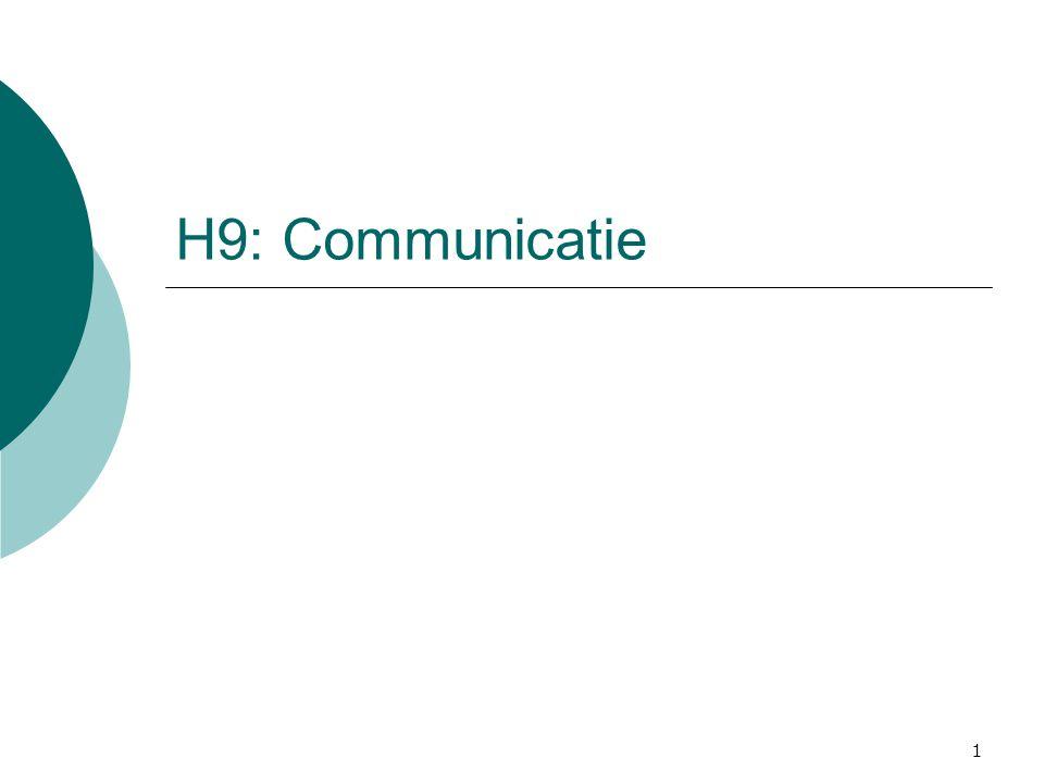 1 H9: Communicatie