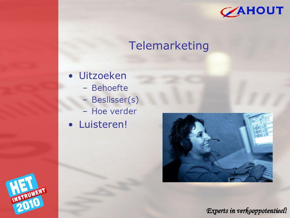 Communicatie •Contact/warm houden •Informeren contact klantprobleem klant verkoper tijd