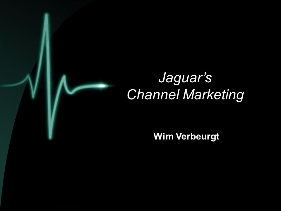  Jaguar  Block Exemption  Jaguar's Channel Marketing  kanaalstructuur  aantal dealers  contract / standaarden  marges  investeringsbonus  verkoop  training  naverkoop agenda