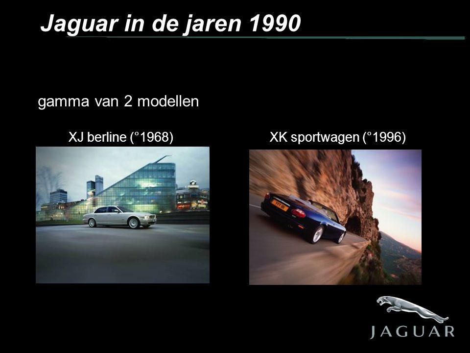 gamma van 2 modellen XJ berline (°1968) XK sportwagen (°1996) Jaguar in de jaren 1990
