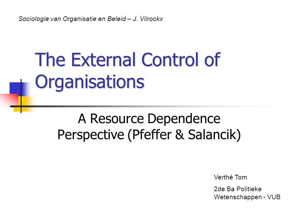 An External Perspective on Organisations  Een bedrijf is geen eiland.