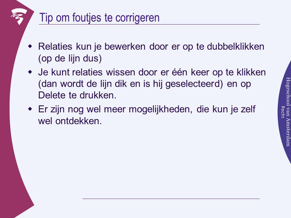 Opdracht 3: Nog een Een op Veel relatie  Leg een relatie tussen de tabel Artikelen en Orders: »We willen dat we altijd bestaande artikelen kunnen bestellen  Referentiele integriteit moet dan ……..??.