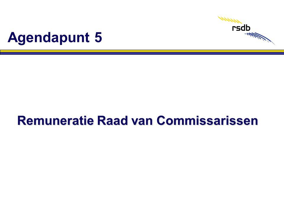 Remuneratie Raad van Commissarissen Agendapunt 5