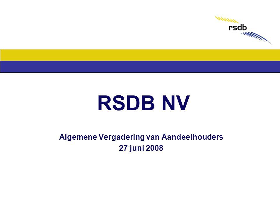 RSDB NV Algemene Vergadering van Aandeelhouders 27 juni 2008