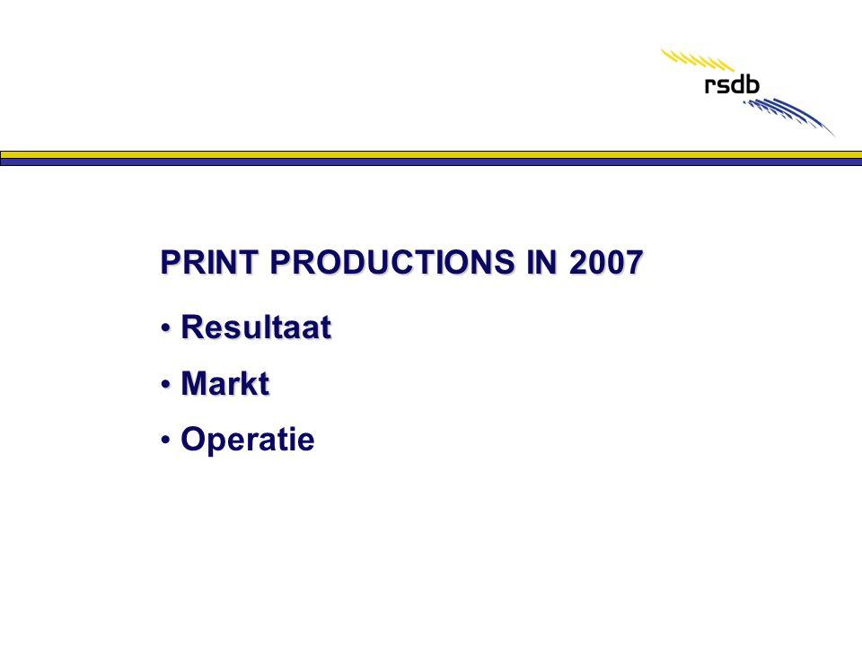 PRINT PRODUCTIONS IN 2007 • Resultaat • Markt • Operatie