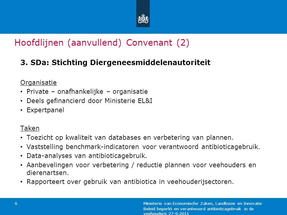 Beleid beperkt en verantwoord antibioticagebruik in de veehouderij 27-9-2011 Ministerie van Economische Zaken, Landbouw en Innovatie 6 Hoofdlijnen (aa