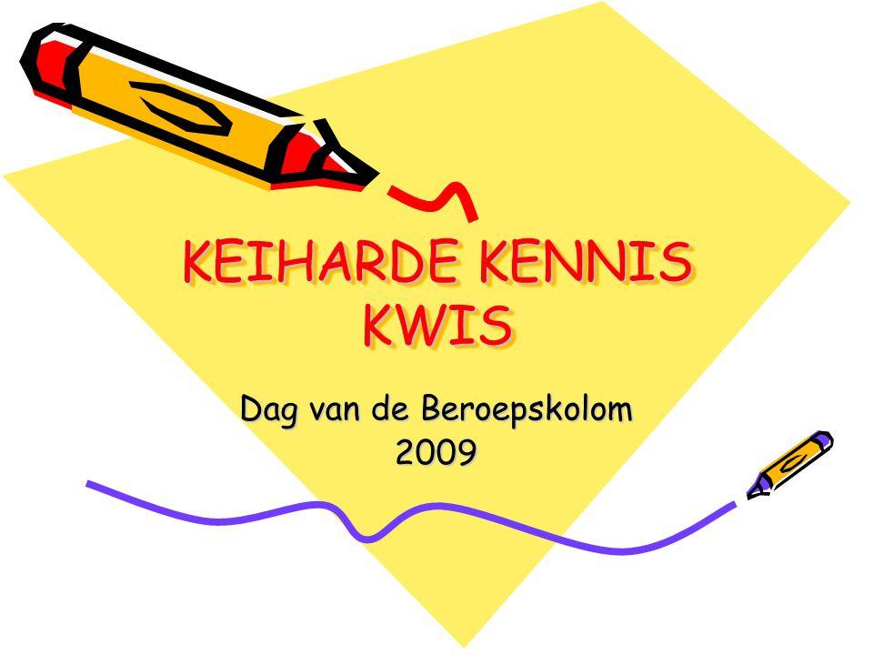 KEIHARDE KENNIS KWIS Dag van de Beroepskolom 2009