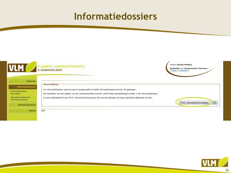 Informatiedossiers 26