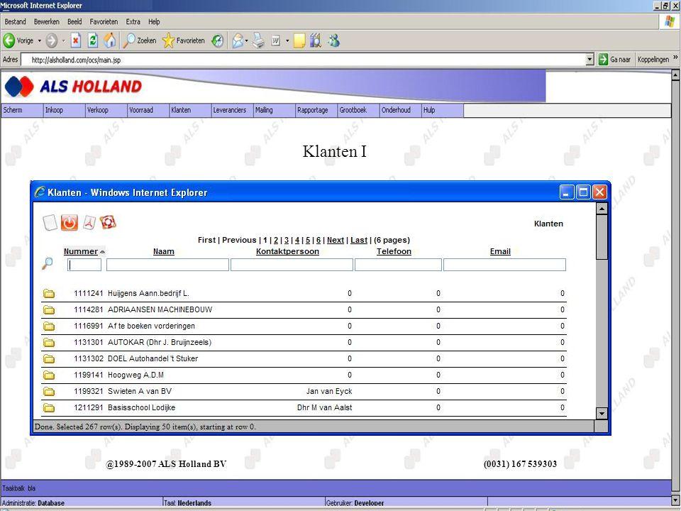 Klanten I @1989-2007 ALS Holland BV (0031) 167 539303