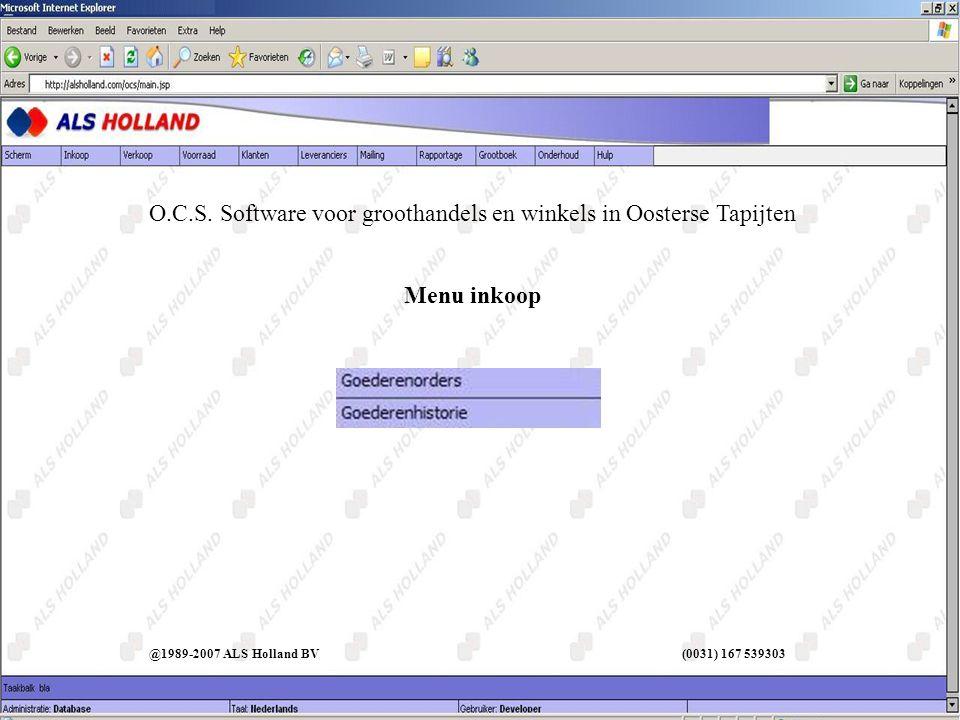 Inkoop I @1989-2007 ALS Holland BV (0031) 167 539303
