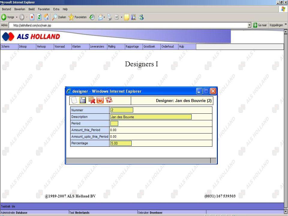 @1989-2007 ALS Holland BV (0031) 167 539303 Designers I