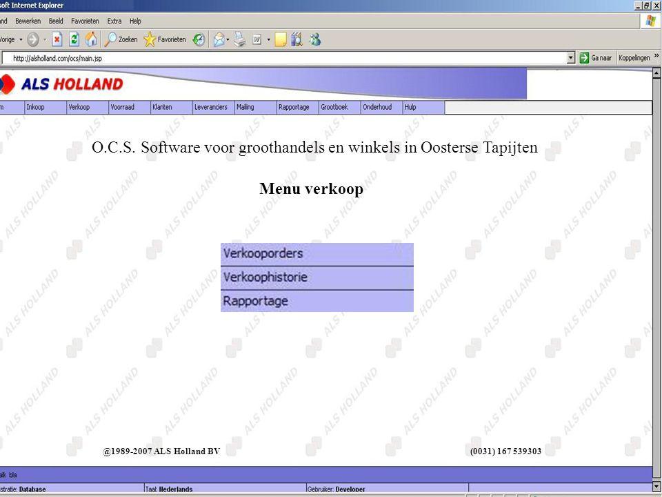 Verkopers @1989-2007 ALS Holland BV (0031) 167 539303 O.C.S.
