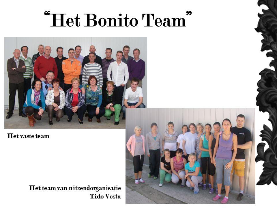 Het Bonito Team Het vaste team Het team van uitzendorganisatie Tido Vesta
