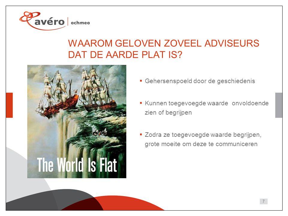 7 WAAROM GELOVEN ZOVEEL ADVISEURS DAT DE AARDE PLAT IS.