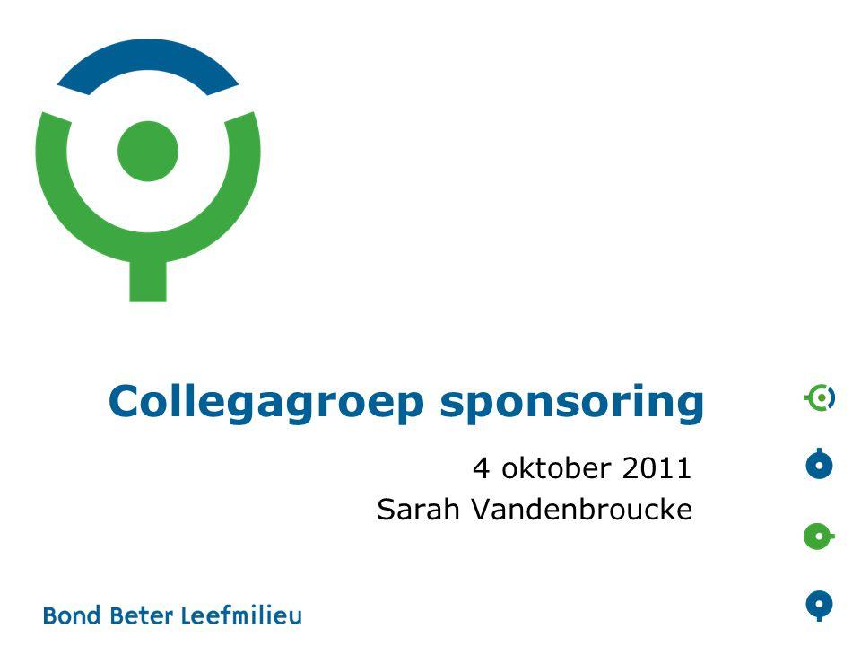 Collegagroep sponsoring 4 oktober 2011 Sarah Vandenbroucke