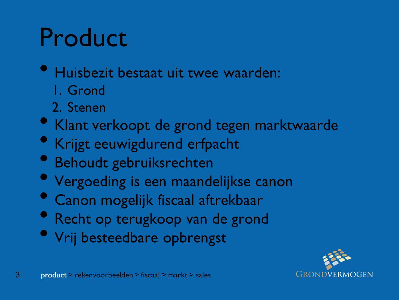 3 Product • Huisbezit bestaat uit twee waarden: 1.